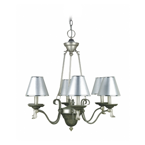 Lite Source Lighting Lite Source Lighting Laurel Pewter Chandelier LS-14656