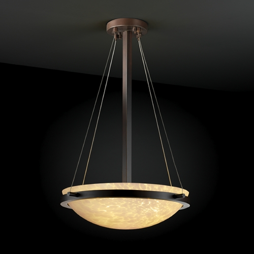 Justice Design Group Justice Design Group Fusion Collection Pendant Light FSN-9691-35-DROP-DBRZ