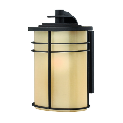 Hinkley Lighting Outdoor Wall Light with Yellow Glass in Museum Bronze Finish 1120MR