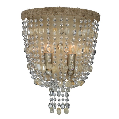 Crystorama Lighting Crystorama Lighting Eva Burnished Silver Sconce 262-BS