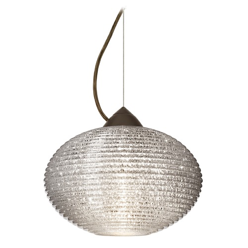 Besa Lighting Besa Lighting Pape Bronze Pendant Light with Globe Shade 1KX-4913GL-BR