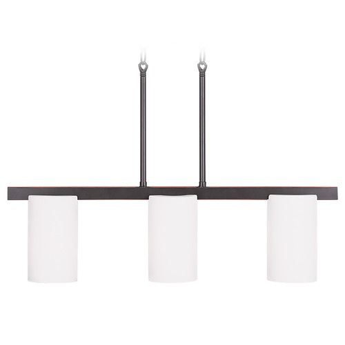 Livex Lighting Livex Lighting Astoria Olde Bronze Island Light with Cylindrical Shade 1326-67