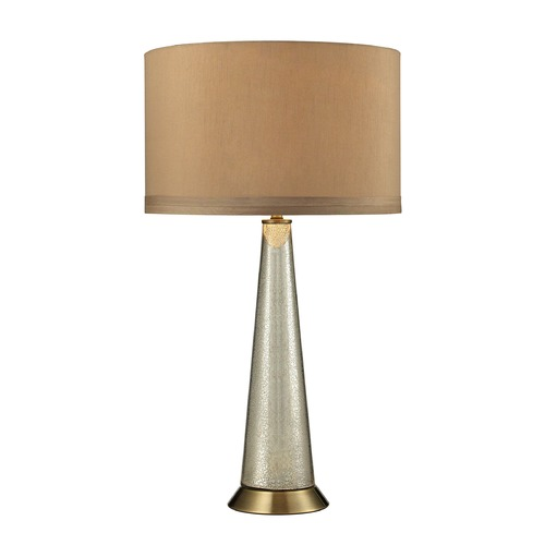 Dimond Lighting Dimond Lighting Antique Mercury, Aged Brass Table Lamp with Drum Shade D2698