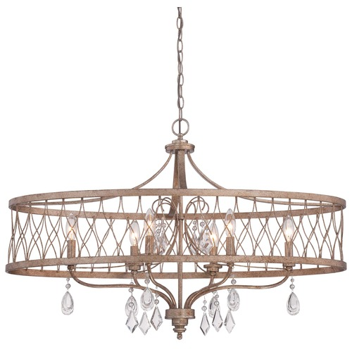 Minka Lavery Minka West Liberty Olympus Gold Pendant Light with Drum Shade 4407-581