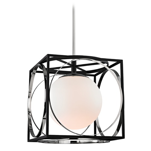 Hudson Valley Lighting Hudson Valley Lighting Wadsworth Polished Nickel Pendant Light with Globe Shade 5818-PN