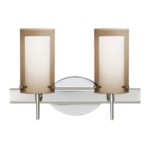 Besa Lighting Besa Lighting Pahu Chrome Bathroom Light 2SW-S44007-CR