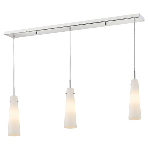 Z-Lite Z-Lite Monte Chrome Multi-Light Pendant with Conical Shade 189MP-3CH