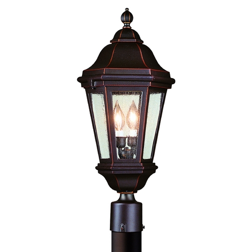 Troy Lighting Post Light with Clear Glass in Antique Bronze Finish PCD6832ABZ