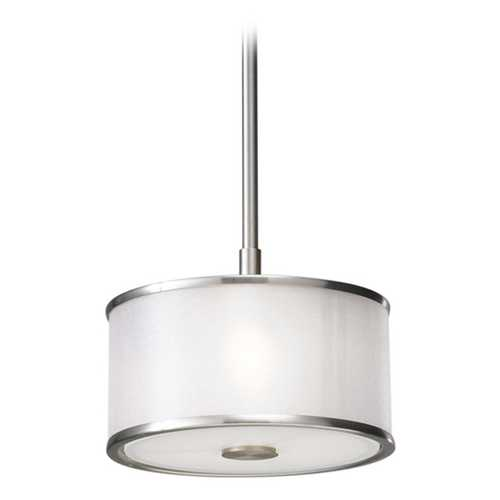 Feiss Lighting Mini-Pendant Light with Silver Shade P1137BS