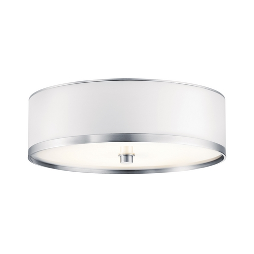 Kichler Lighting Kichler Flushmount Light with White in Brushed Aluminum Finish 10803BA