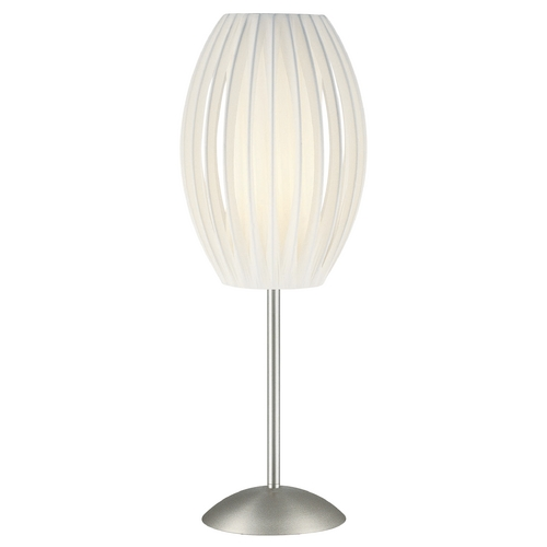 Lite Source Lighting Pleated Table Lamp LS-2875SS/WHT
