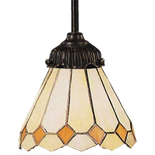 Elk Lighting Mini-Pendant Light with Multi-Color Glass 078-TB-05