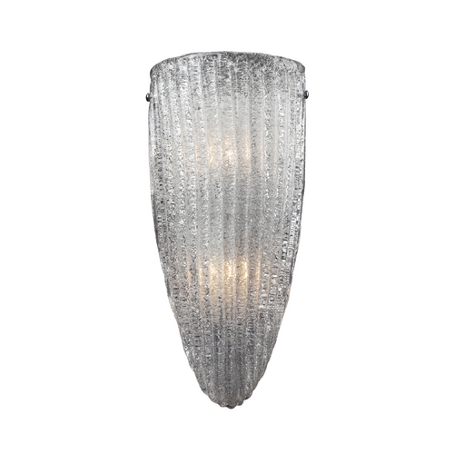 Elk Lighting Modern Sconce Wall Light with White Glass in Satin Nickel Finish 10270/2