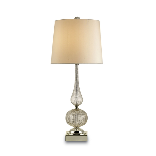 Currey and Company Lighting Table Lamp in Gold Flecked Blown Glass/brass Finish 6020