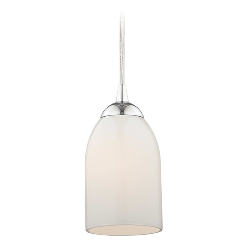 Design Classics Lighting Design Classics Gala Fuse Chrome LED Mini-Pendant Light with Bowl / Dome Shade 682-26 GL1024D