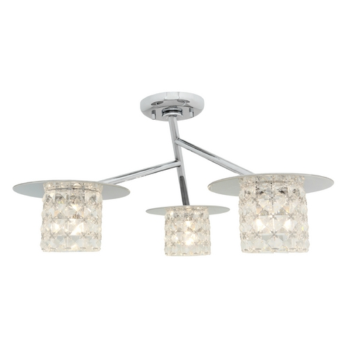 Access Lighting Access Lighting Prizm Chrome Semi-Flushmount Light 23924-CH/CCL