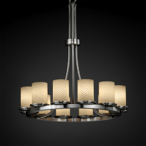 Justice Design Group Justice Design Group Fusion Collection Chandelier FSN-8763-10-WEVE-NCKL