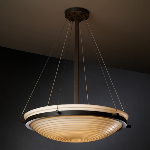 Justice Design Group Justice Design Group Porcelina Collection Pendant Light PNA-9692-35-SAWT-DBRZ