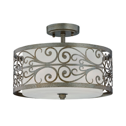 Jeremiah Lighting Jeremiah Worthington Athenian Obol Semi-Flushmount Light 35853-AO