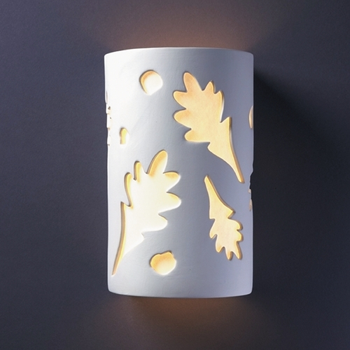 Justice Design Group Sconce Wall Light with White in Bisque Finish CER-7465-BIS