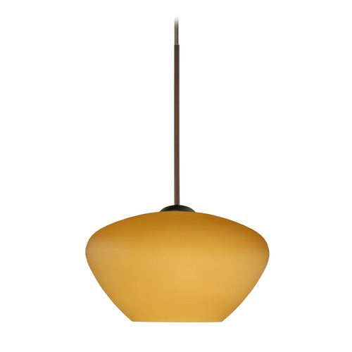 Besa Lighting Besa Lighting Peri Bronze Mini-Pendant Light 1XT-541080-BR