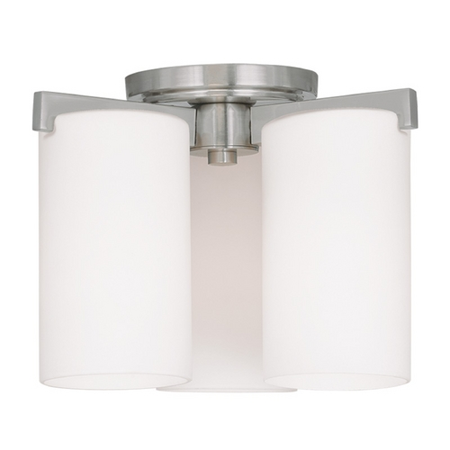 Livex Lighting Livex Lighting Astoria Brushed Nickel Flushmount Light 1324-91