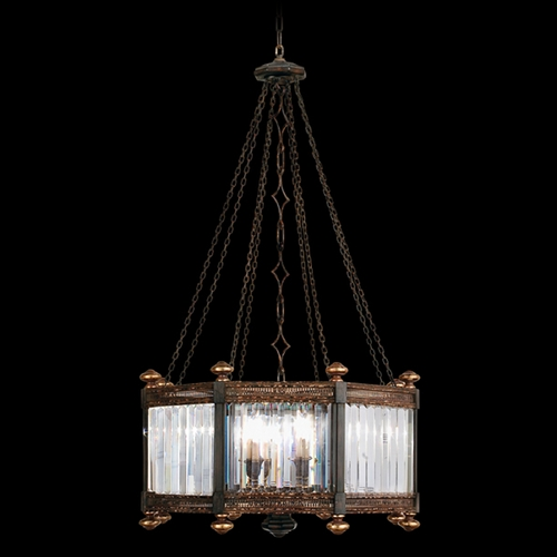 Fine Art Lamps Fine Art Lamps Eaton Place Rustic Iron Pendant Light with Hexagon Shade 584440ST