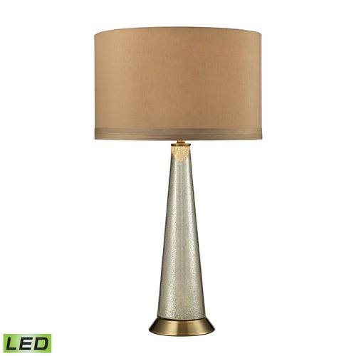 Dimond Lighting Dimond Lighting Antique Mercury, Aged Brass LED Table Lamp with Drum Shade D2698-LED