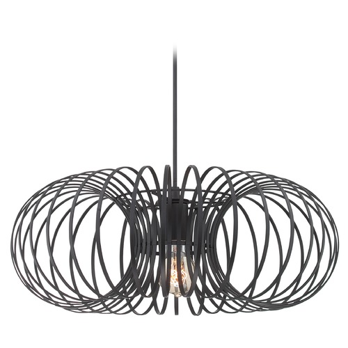 Lite Source Lighting Lite Source Lighting Walworth Black Pendant Light with Oblong Shade LS-19738