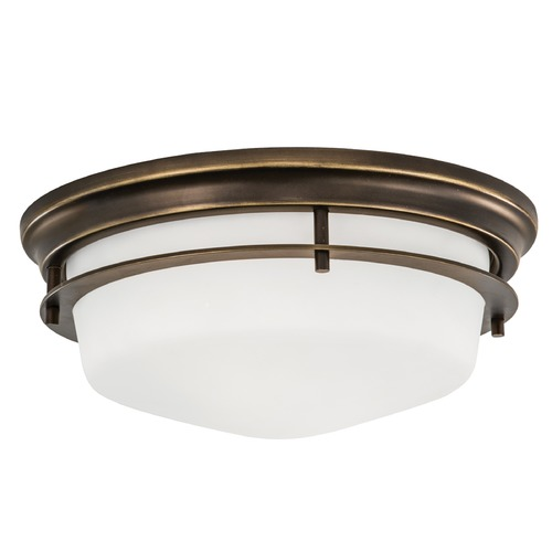 Norwell Lighting Norwell Lighting Galley Burnished Bronze Flushmount Light 5632-BB-MO