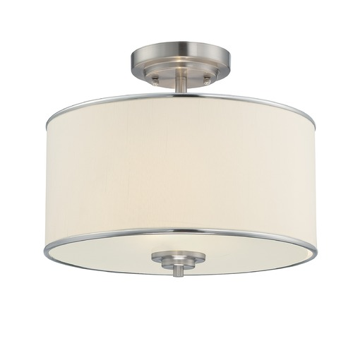 Savoy House Savoy House Satin Nickel Semi-Flushmount Light 6-1501-2-SN