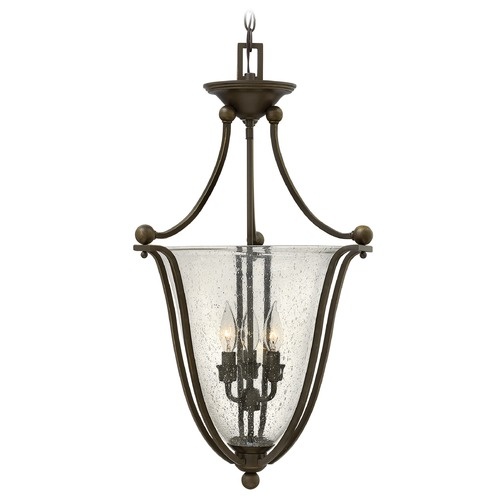 Hinkley Lighting Hinkley Lighting Bolla Olde Bronze Pendant Light with Urn Shade 4663OB-CL