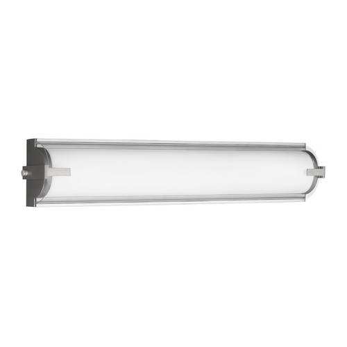 Sea Gull Lighting Sea Gull Braunfels Satin Aluminum LED Bathroom Light 4535791S-04