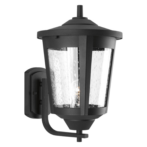 Progress Lighting Seeded Glass Outdoor Wall Light Black Progress Lighting P6075-31
