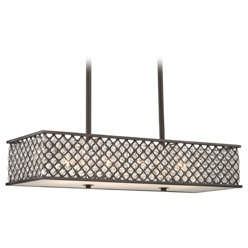 Elk Lighting Elk Lighting Genevieve Oil Rubbed Bronze Island Light with Rectangle Shade 32103/4