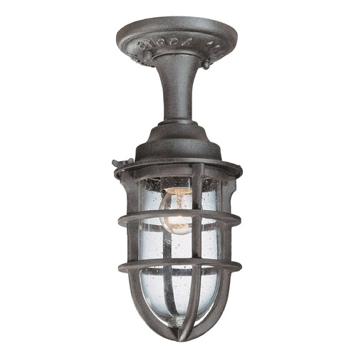 Troy Lighting Outdoor Hanging Light with Clear Glass in Nautical Rust Finish C1863NR