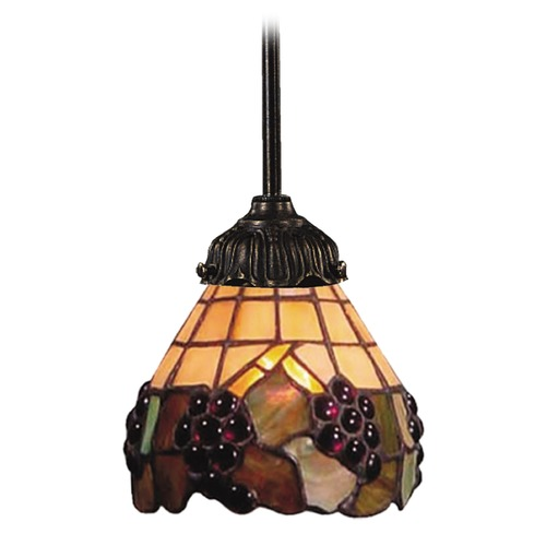 Elk Lighting Mini-Pendant Light with Multi-Color Glass 078-TB-07