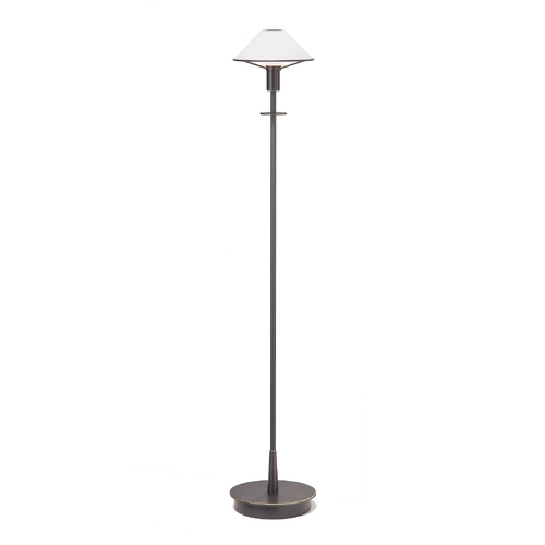 Holtkoetter Lighting Halogen Floor Lamp with White Glass Shade 6515/1-HB/OB-TRUE WHITE