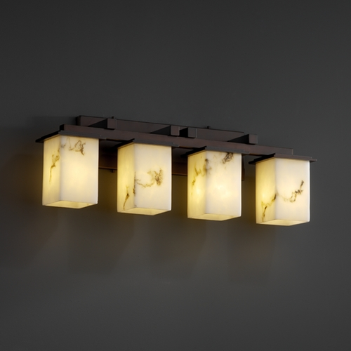 Justice Design Group Justice Design Group Lumenaria Collection Bathroom Light FAL-8674-15-DBRZ