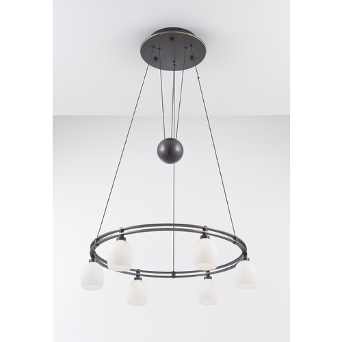 Holtkoetter Lighting Holtkoetter Modern Low Voltage Pendant Light with White Glass in Hand-Brushed Old Bronze Finish 5556 HBOB G5001