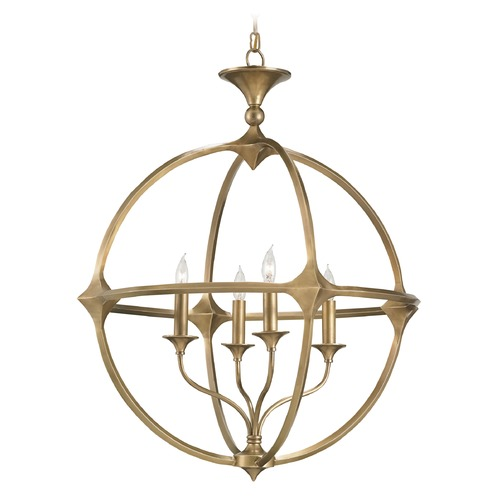 Currey and Company Lighting Currey and Company Lighting Bellario Antique Brass Pendant Light 9346