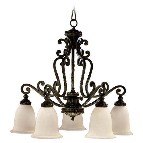 Quorum Lighting Quorum Lighting Alameda Oiled Bronze Chandelier 6386-5-86