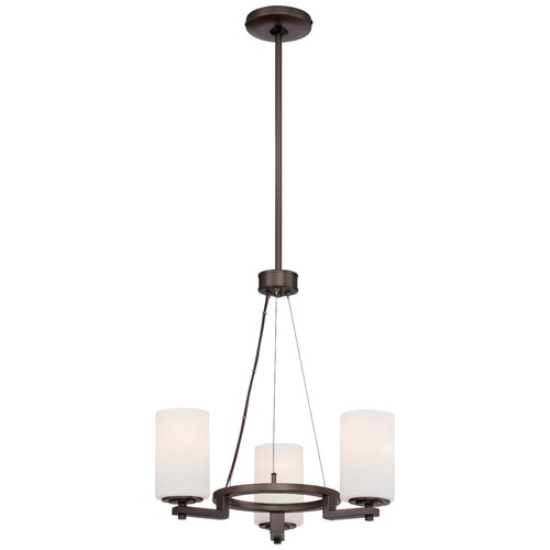 Minka Lighting Minka Morlaix Harvard Court Bronze Mini-Chandelier 4413-281