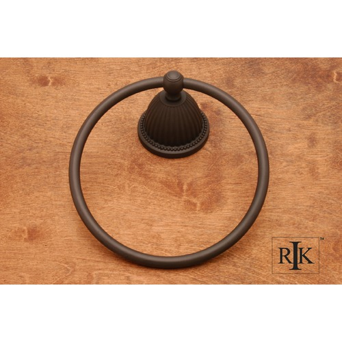 RK International Beaded Bell Base Towel Ring BERB5