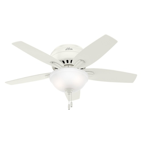 Hunter Fan Company 42-Inch Hunter Fan Newsome Ceiling Fan with Light - Fresh White Finish 51080