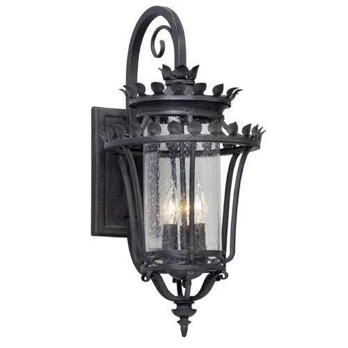 Troy Lighting Seeded Glass Outdoor Wall Light Iron Troy Lighting B5132