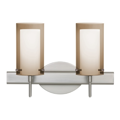 Besa Lighting Besa Lighting Pahu Satin Nickel LED Bathroom Light 2SW-S44007-LED-SN