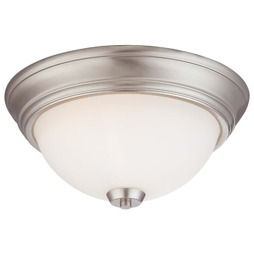 Minka Lavery Overland Park Brushed Nickel Flushmount Light 4960-84