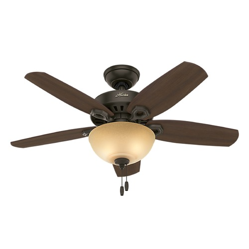 Hunter Fan Company 42-Inch Hunter Fan Builder Small Room Ceiling Fan with Light - New Bronze Finish 52218