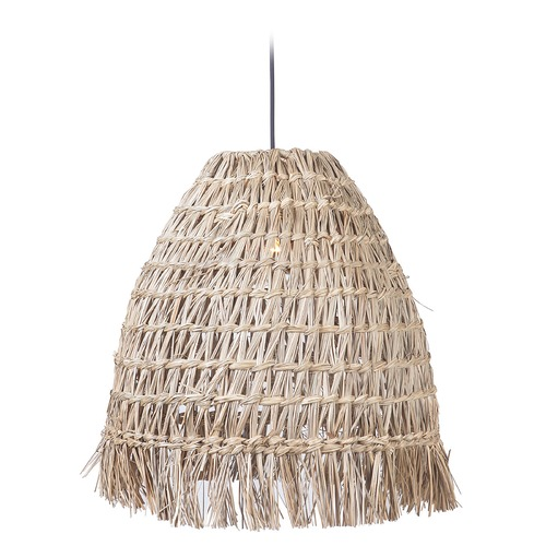 Craftmade Lighting Craftmade Espresso Pendant with Natural Shade P915ESP1